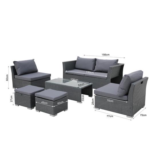 Intimo Garden Positano Lounge Set8