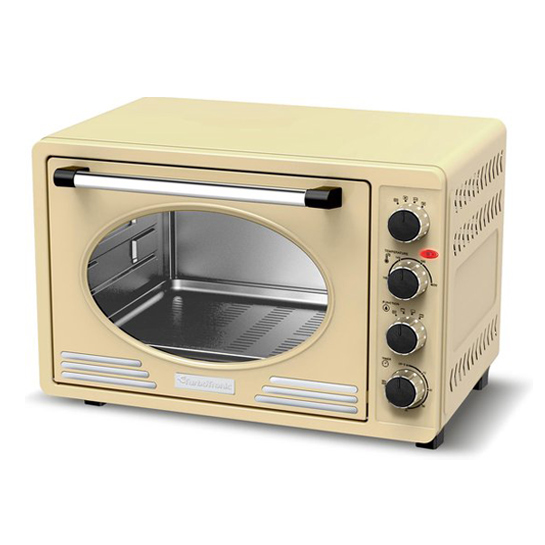 Tt Retro Rvs Elektrische Oven Creme