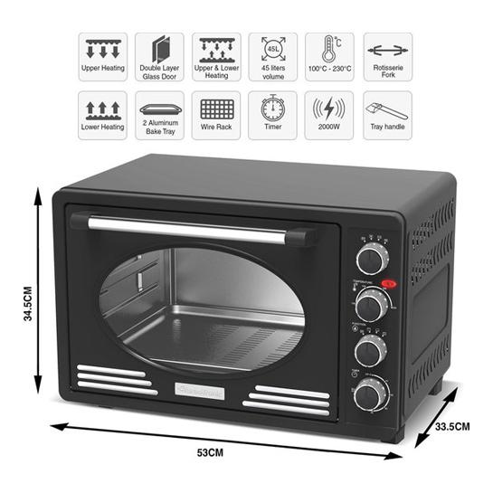 Tt Retro Rvs Elektrische Oven6