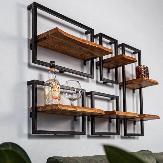 Wandplank Set Van 5 Industrieel2