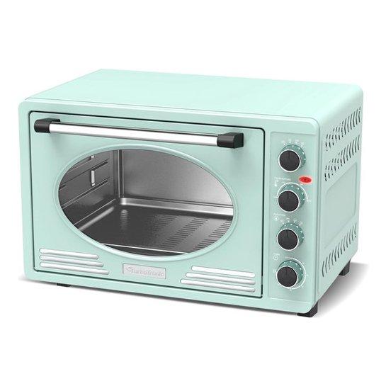 Tt Retro Rvs Elektrische Oven Turqoise