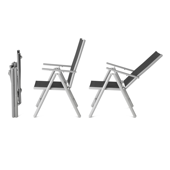 Aluminium Tuinstoel Set6