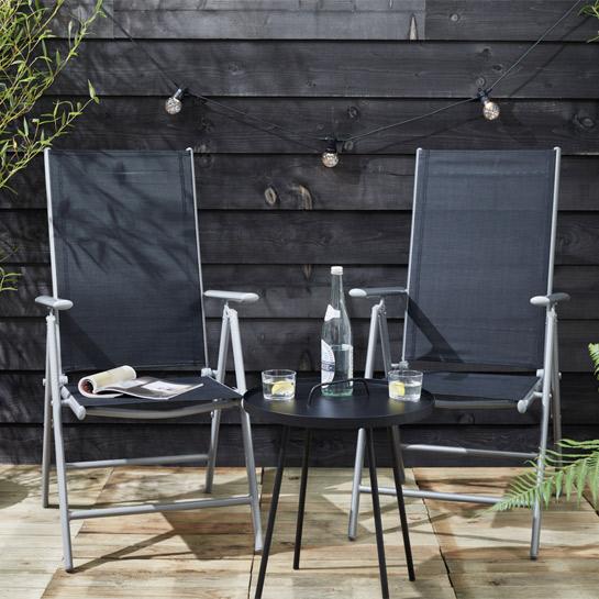Aluminium Tuinstoel Set7