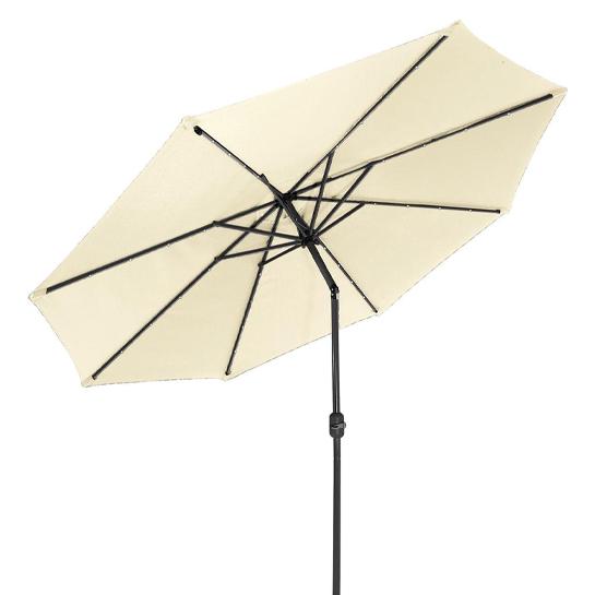 Goodvibes Kantelbare Parasol Met Led Verlichting Creme2