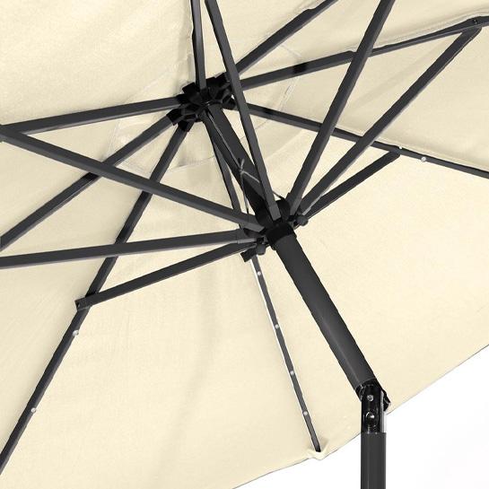 Goodvibes Kantelbare Parasol Met Led Verlichting Creme3