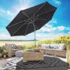 Goodvibes Kantelbare Parasol Met Led Verlichting Zwart1