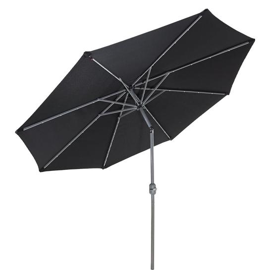 Goodvibes Kantelbare Parasol Met Led Verlichting Zwart2