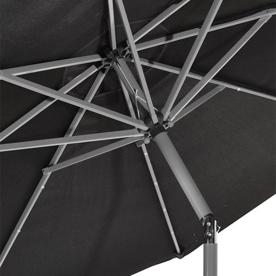 Goodvibes Kantelbare Parasol Met Led Verlichting Zwart3