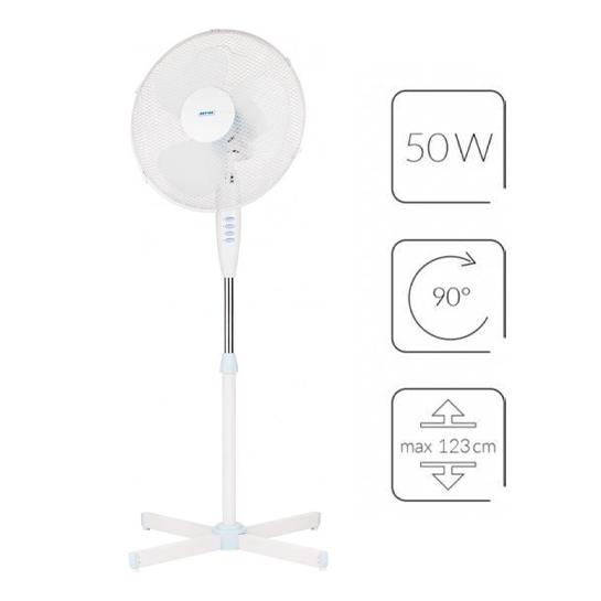 Mpm Staande Ventilator 50w Wit.1