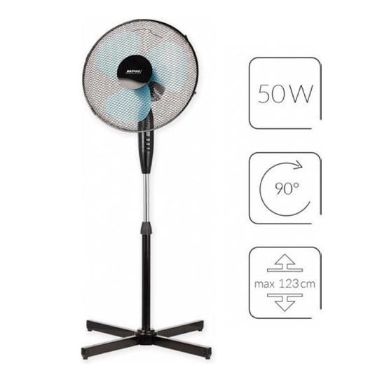 Mpm Staande Ventilator 50w Zwart.1