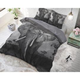 Dekbedovertrek Elephant Mansion Anthracite1