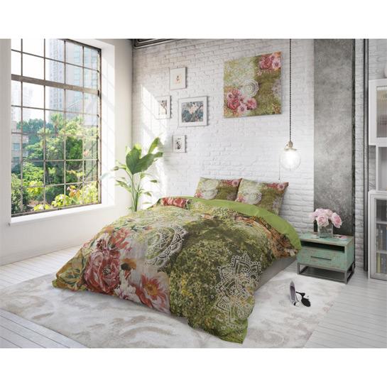 Dekbedovertrek Green Flower Art1