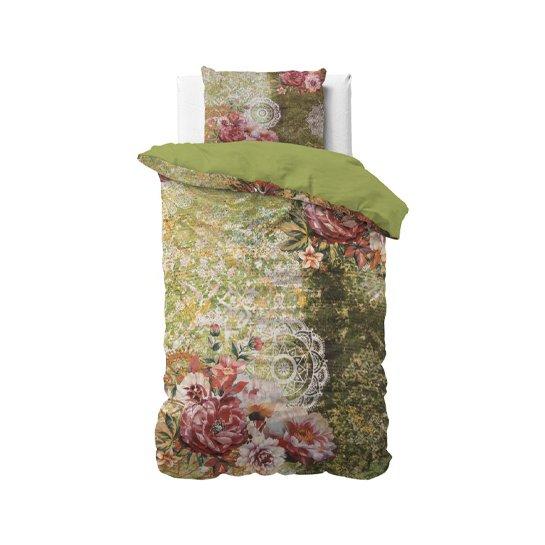 Dekbedovertrek Green Flower Art4