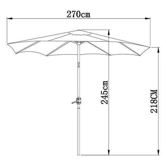 Goodvibes Kantelbare Parasol 270cm Detail4