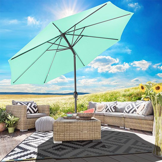 Goodvibes Kantelbare Parasol 270cm Groen