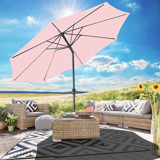 Goodvibes Kantelbare Parasol 270cm Roze