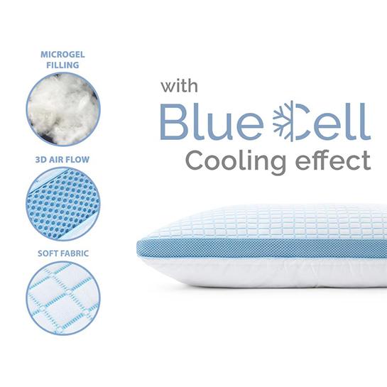 3d Blue Cell Verkoelend Microgel Kussen