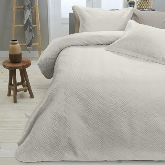 Bedsprei Wave Cream