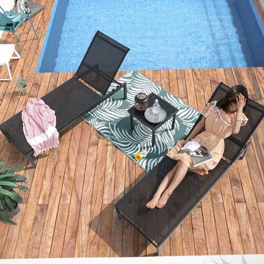 Fano Ligbedden Set 3 Delig Verstelbaar Zwart 545x545