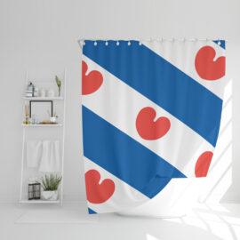 Friese Vlag Douchegordijn