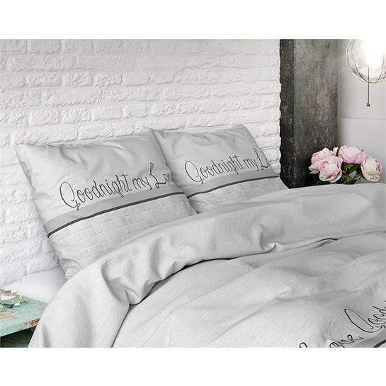 Dekbedovertrek Goodnight My Love White1