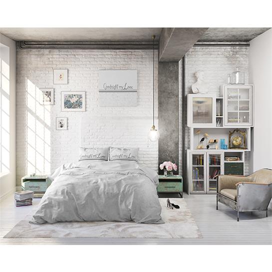 Dekbedovertrek Goodnight My Love White2