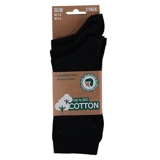 Bio Katoen Sokken Zwart1