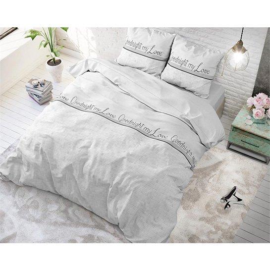 Dekbedovertrek Goodnight My Love White4