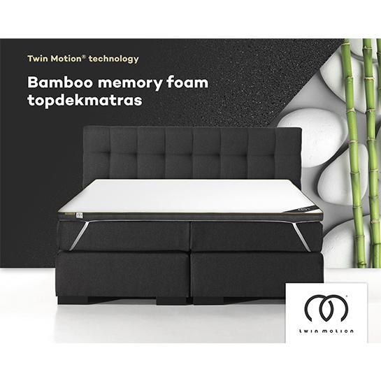 Twin Motion Topdekmatras Bamboo Traagschuim