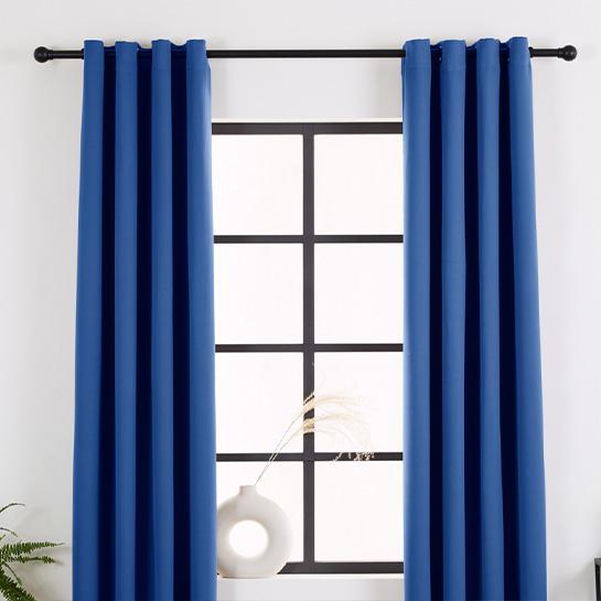 Gordijnen Blauw (250 X 150 Cm) Sfeerbeeld