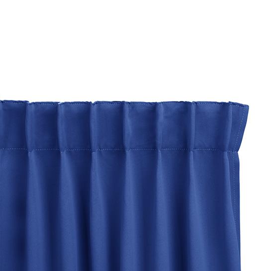 Gordijnen Blauw Stangloos (250 X 150 Cm) Ophanging
