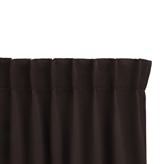 Gordijnen Bruin Stangloos (250 X 150 Cm) Ophanging