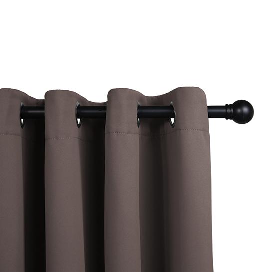 Gordijnen Dark Taupe (250 X 150 Cm) Railing