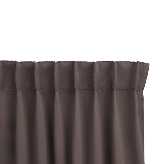 Gordijnen Dark Taupe Stangloos (250 X 150 Cm) Ophanging