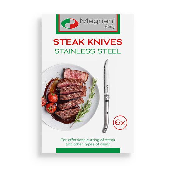 Magnani Steakmessen Rvs