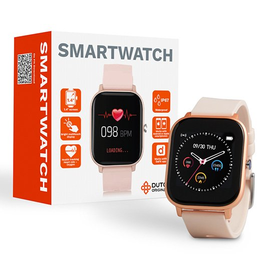 Smartwatch 2 Kleuren, Goud Met Doosje