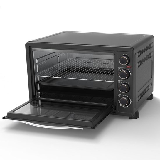Turbotronic Ev60 Elektrische Oven 60 Liter Zwart Binnenkant