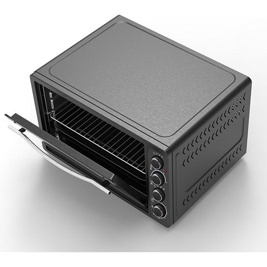 Turbotronic Ev60 Elektrische Oven 60 Liter Zwart Boven En Binnenkant