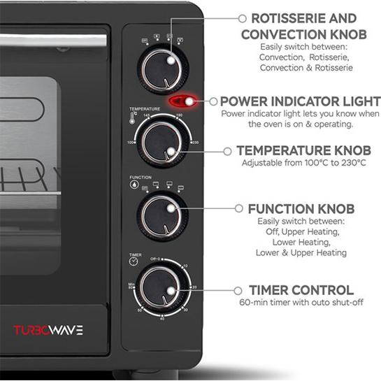 Turbotronic Ev60 Elektrische Oven 60 Liter Zwart Informatie