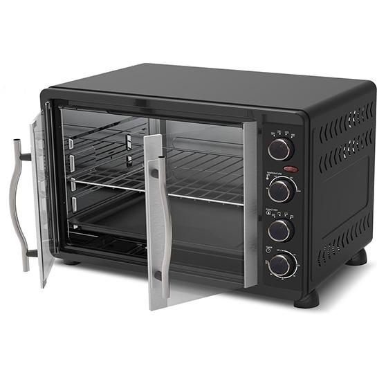 Turbotronic Feo45 Elektrische Oven 45 Liter Zwart Binnenkant