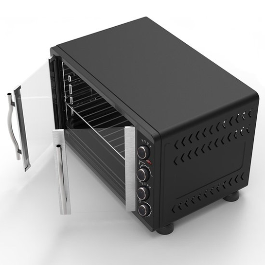 Turbotronic Feo45 Elektrische Oven 45 Liter Zwart Bovenkant