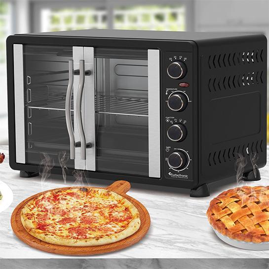 Turbotronic Feo45 Elektrische Oven 45 Liter Zwart Sfeer