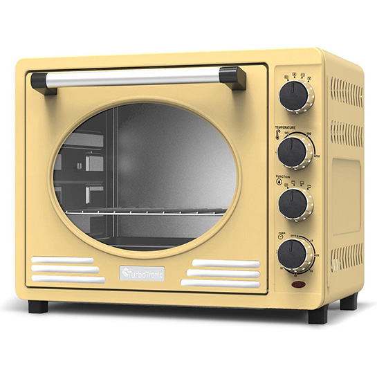 Turbotronic Tt Ev35r Retro Rvs Elektrische Oven 35 Liter 1600w Creme Thumbnail