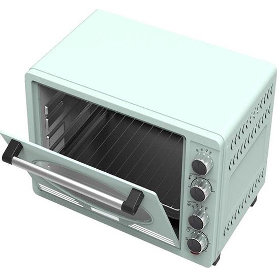 Turbotronic Tt Ev35r Retro Rvs Elektrische Oven 35 Liter 1600w Turquoise Binnenkant