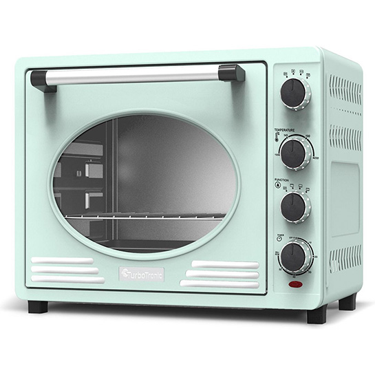 Turbotronic Tt Ev35r Retro Rvs Elektrische Oven 35 Liter 1600w Turquoise Thumbnail