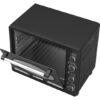 Turbotronic Tt Ev35r Retro Rvs Vrijstaande Elektrische Oven – 35 L – 1600w Zwart Binnenkant