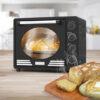 Turbotronic Tt Ev35r Retro Rvs Vrijstaande Elektrische Oven – 35 L – 1600w Zwart Sfeer