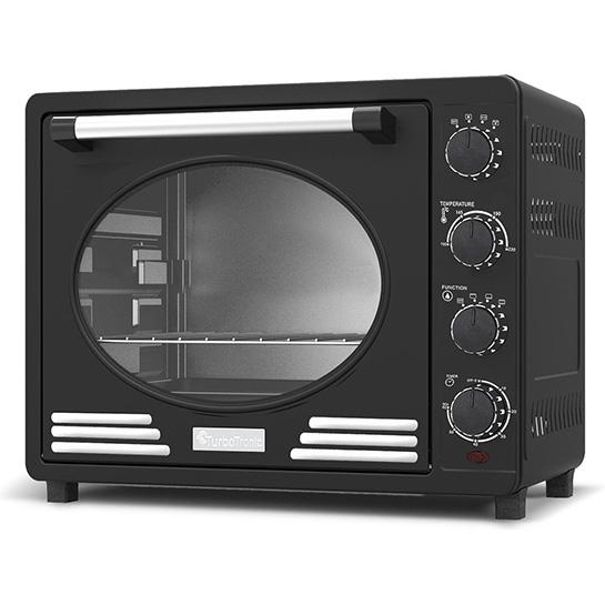 Turbotronic Tt Ev35r Retro Rvs Vrijstaande Elektrische Oven – 35 L – 1600w Zwart Thumbnail