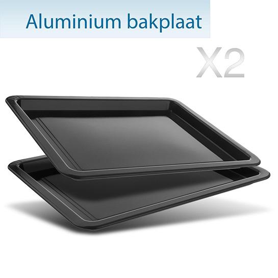 Turbotronic Tt Ev55 Rvs Vrijstaande Elektrische Oven – Aluminium Bakplaten