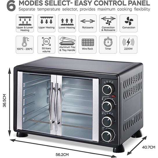 Turbotronic Tt Ev55 Rvs Vrijstaande Elektrische Oven – Informatie En Afmetingen